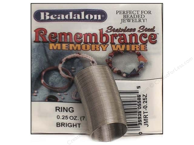 Beadalon Remembrance Memory Wire Ring .25 oz. Bright