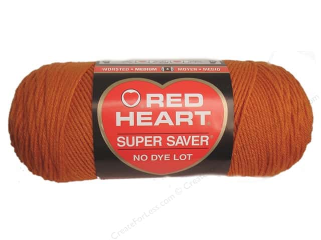 Red Heart Super Saver Yarn #0256 Carrot 364 yd.