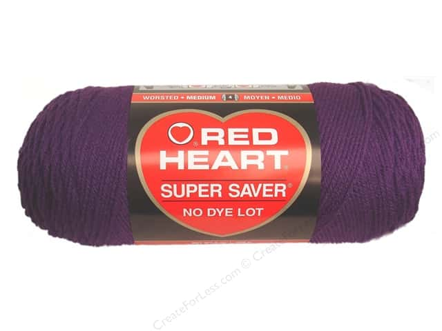 Red Heart Super Saver Yarn 364 yd. #0776 Dark Orchid