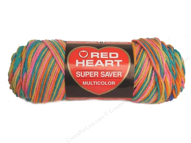 Red Heart Super Saver Yarn #0929 Bikini 244 yd.
