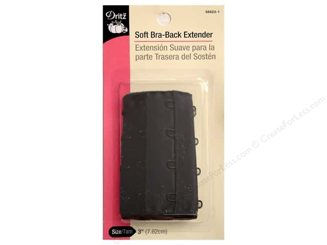 Dritz Bra Back Extender 3 in. Black