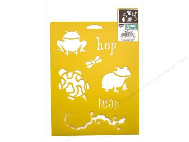 Delta Stencil Mania 7 x 10 in. Frogs & Friends