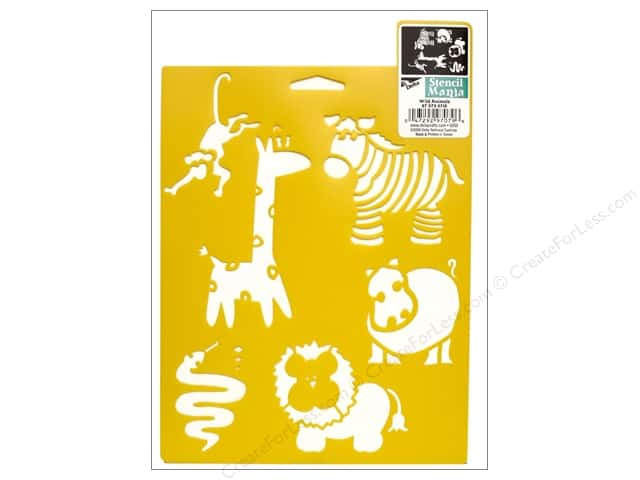 Delta Stencil Mania 7 x 10 in. Wild Animals