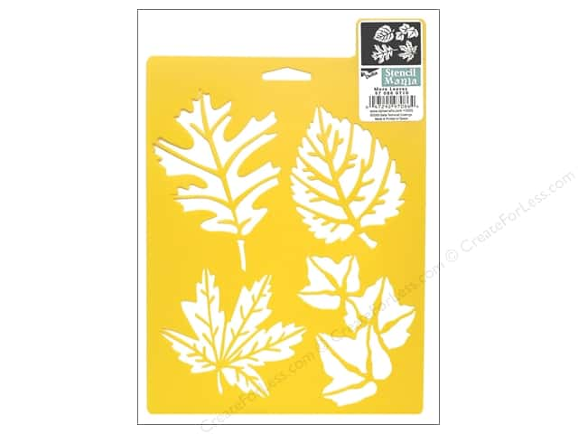 Delta Stencil Mania 7 x 10 in. More Leaves