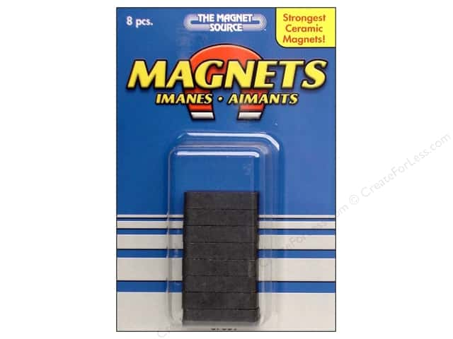 The Magnet Source Ceramic Block Magnets 3/16 x 1/4 x 7/8 in. 8 pc.