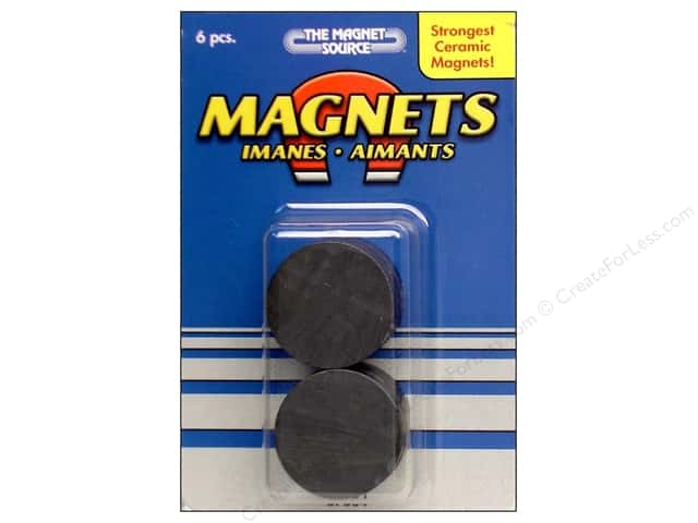 The Magnet Source Ceramic Disc Magnets 1 in. 6 pc.