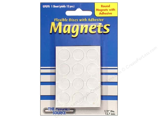 The Magnet Source Flexible Magnetic Discs 1/2 in. 12 pc.
