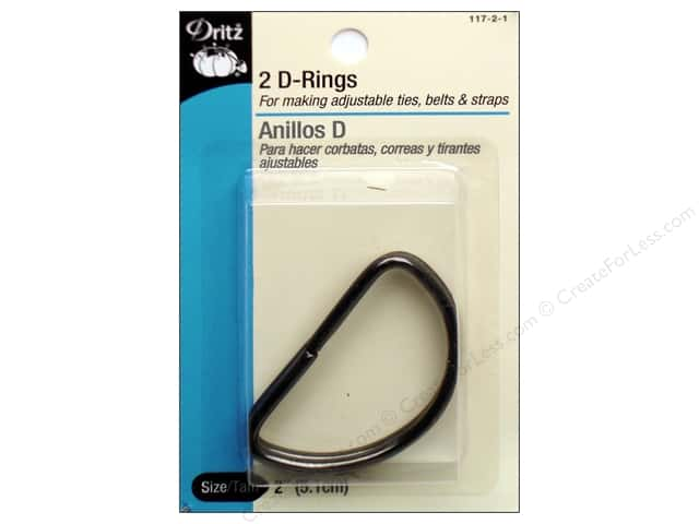 D Rings by Dritz 2 in. Black 2pc.