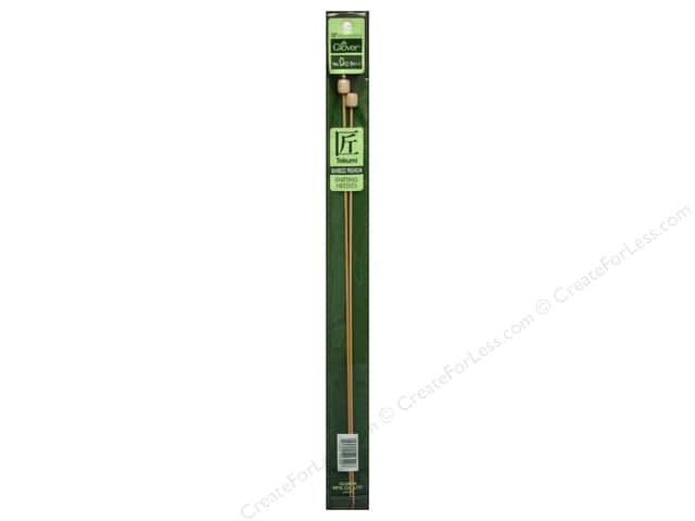 Clover Bamboo Needle Single Point 13 in. Size 0