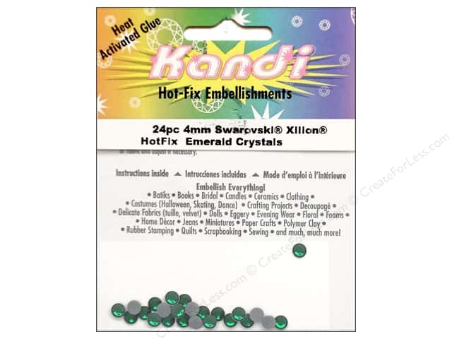 Kandi Swarovski Hotfix Crystals 4 mm 24 pc. Emerald