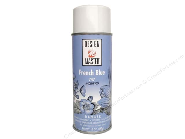 Design Master Colortool Spray Paint #747 French Blue 12 oz.