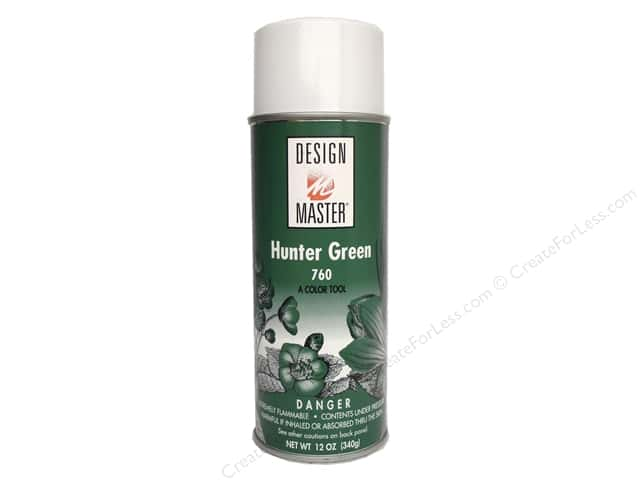 Design Master Colortool Spray Paint #760 Hunter Green 12 oz.