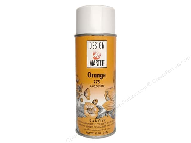 Design Master Colortool Spray Paint #775 Orange 12 oz.