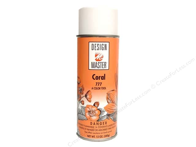 Design Master Colortool Spray Paint #777 Coral 12 oz.