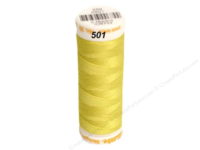 Mettler Cotton Machine Embroidery Thread 30 wt. 220 yd. #501 Lemon Zest