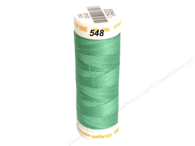 Mettler Cotton Machine Embroidery Thread 30 wt. 220 yd. #548 Bottle Green