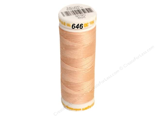 Mettler Cotton Machine Embroidery Thread 30 wt. 220 yd. #646 Shell