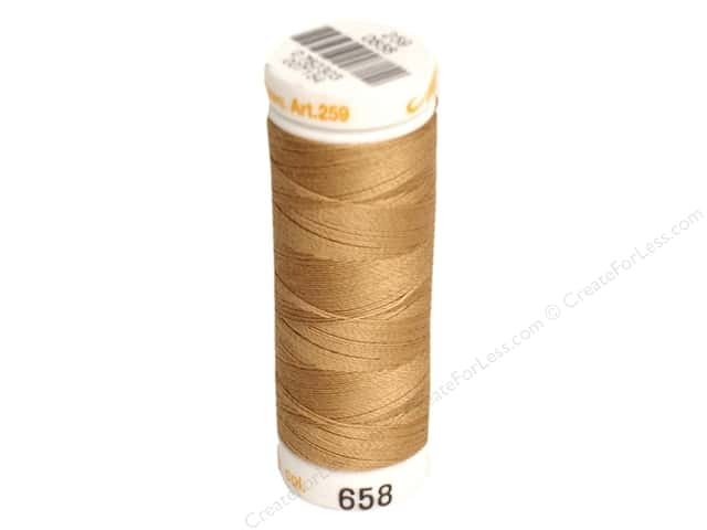 Mettler Cotton Machine Embroidery Thread 30 wt. 220 yd. #658 Bronze