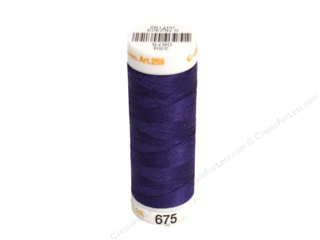 Mettler Cotton Machine Embroidery Thread 30 wt. 220 yd. #675 Imperial Blue