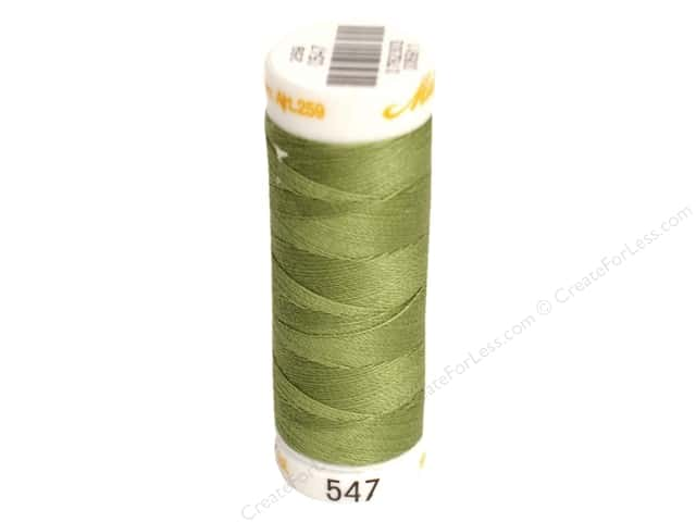 Mettler Cotton Machine Embroidery Thread 30 wt. 220 yd. #547 Moss Green