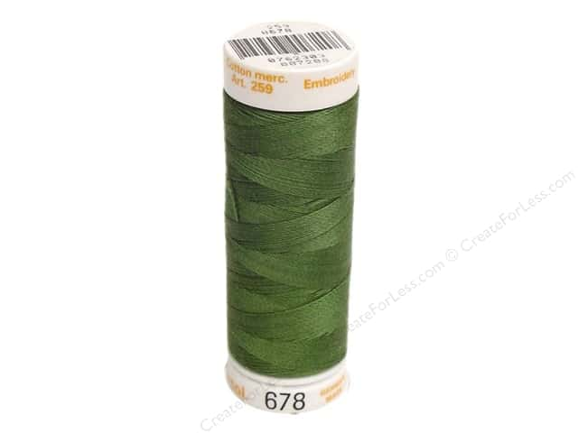 Mettler Cotton Machine Embroidery Thread 30 wt. 220 yd. #678 Seagrass
