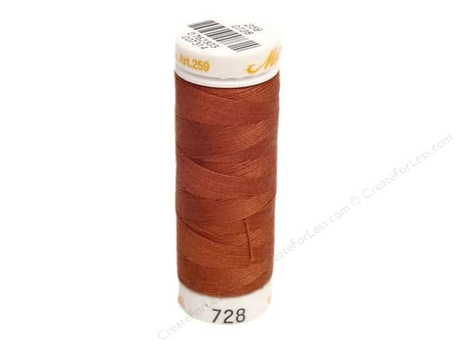 Mettler Cotton Machine Embroidery Thread 30 wt. 220 yd. #728 Foxy Red