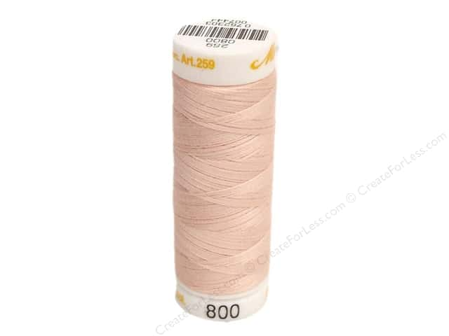 Mettler Cotton Machine Embroidery Thread 30 wt. 220 yd. #800 Shell