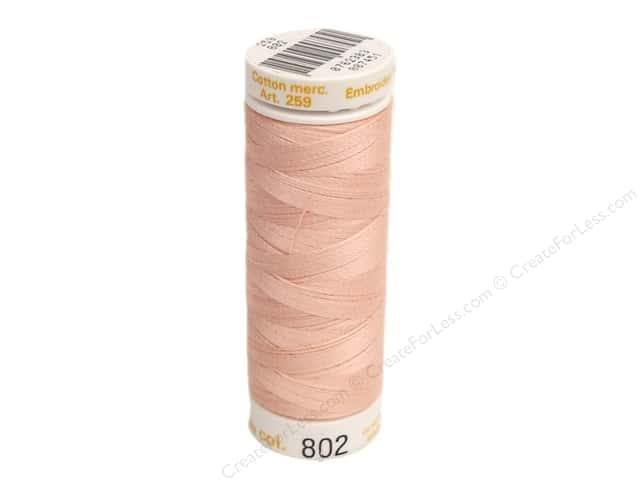 Mettler Cotton Machine Embroidery Thread 30 wt. 220 yd. #802 Antique Pink