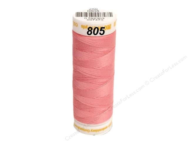 Mettler Cotton Machine Embroidery Thread 30 wt. 220 yd. #805 Roseate