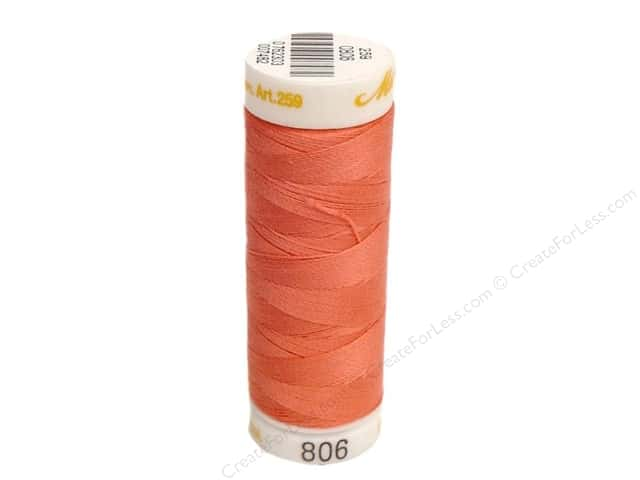 Mettler Cotton Machine Embroidery Thread 30 wt. 220 yd. #806 Persimmon