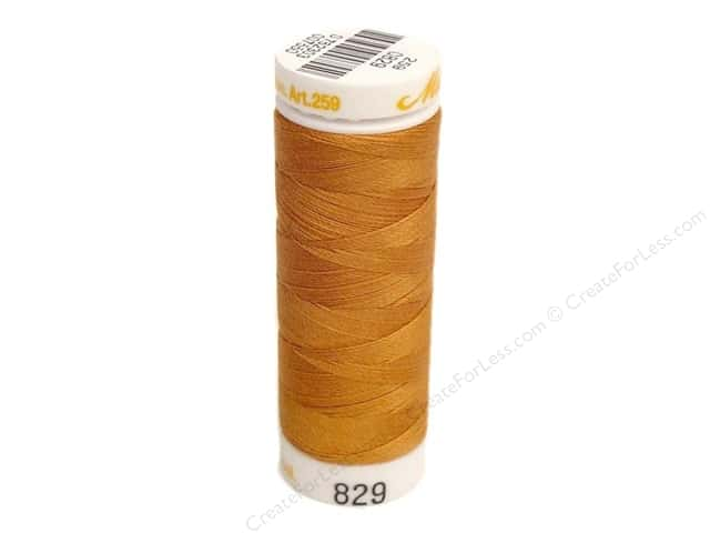 Mettler Cotton Machine Embroidery Thread 30 wt. 220 yd. #829 Golden Oak