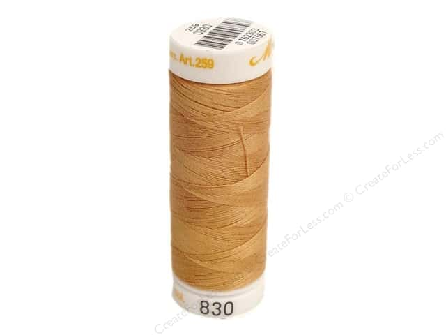 Mettler Cotton Machine Embroidery Thread 30 wt. 220 yd. #830 Sisal