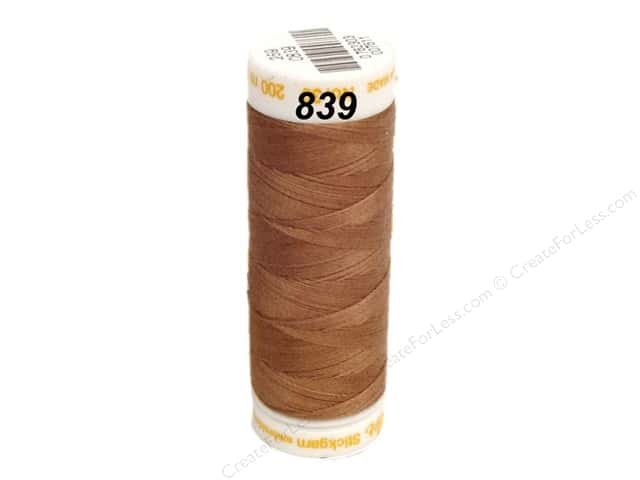 Mettler Cotton Machine Embroidery Thread 30 wt. 220 yd. #839 Penny