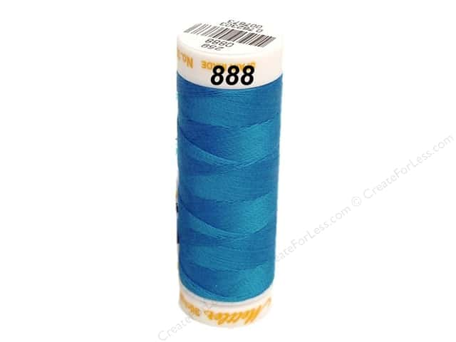 Mettler Cotton Machine Embroidery Thread 30 wt. 220 yd. #888 French Blue