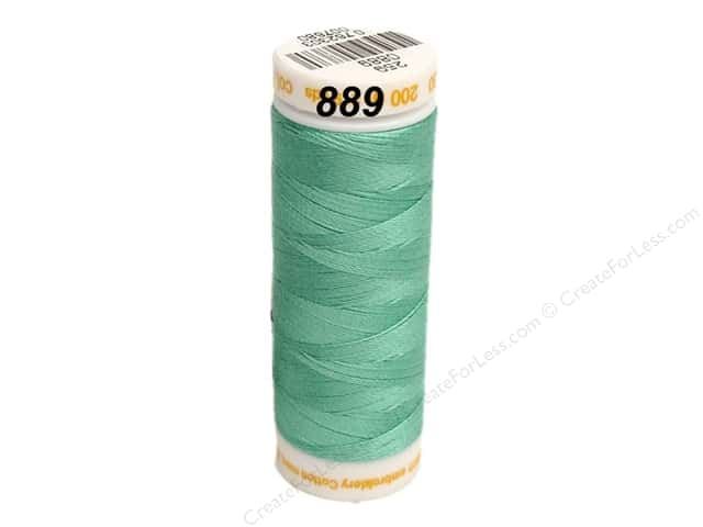 Mettler Cotton Machine Embroidery Thread 30 wt. 220 yd. #889 Blue Curacao