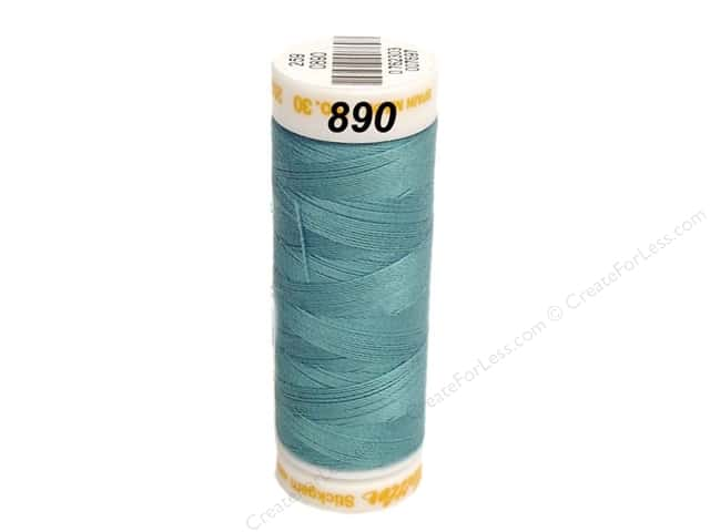 Mettler Cotton Machine Embroidery Thread 30 wt. 220 yd. #890 Turquoise