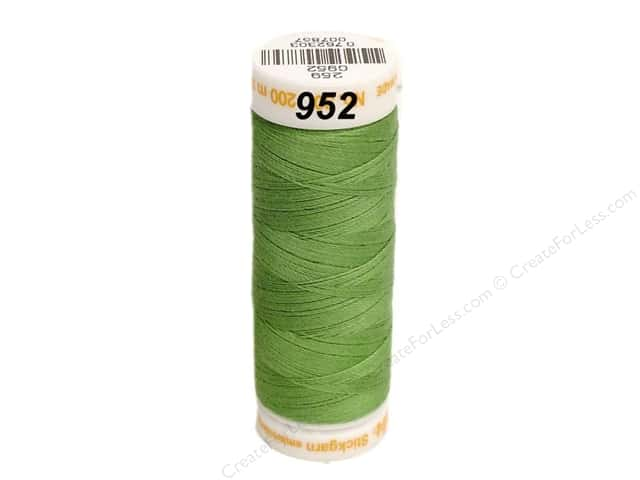 Mettler Cotton Machine Embroidery Thread 30 wt. 220 yd. #952 Jade Lime