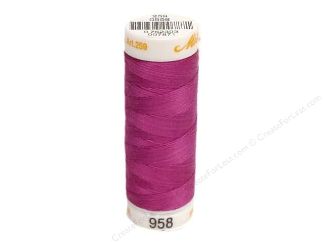 Mettler Cotton Machine Embroidery Thread 30 wt. 220 yd. #958 Purple Passion