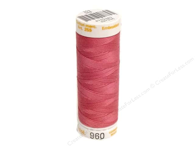Mettler Cotton Machine Embroidery Thread 30 wt. 220 yd. #960 Tropicana