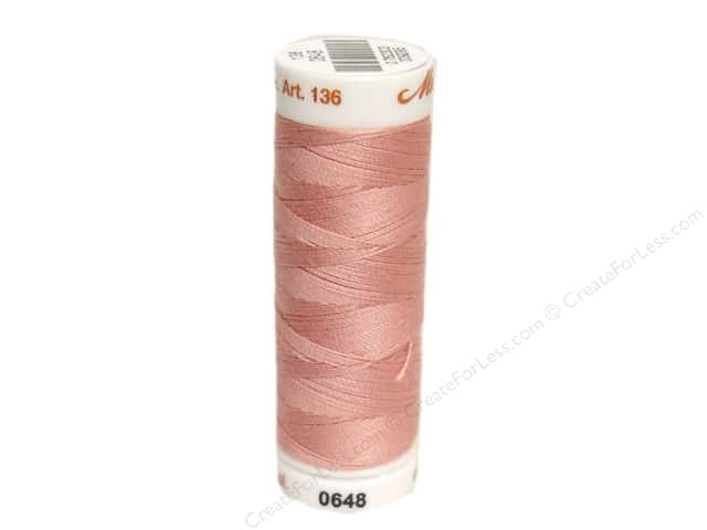Mettler Silk Finish Cotton Thread 40 wt. 164 yd. #0637 Antique Pink