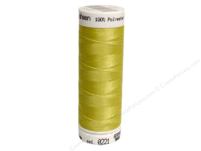 Mettler PolySheen Embroidery Thread 220 yd. #0221 Light Brass