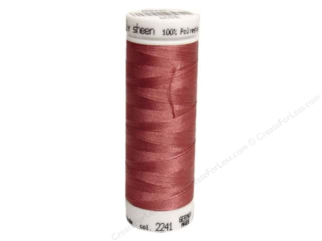 Mettler PolySheen Embroidery Thread 220 yd. #2241 Mauve