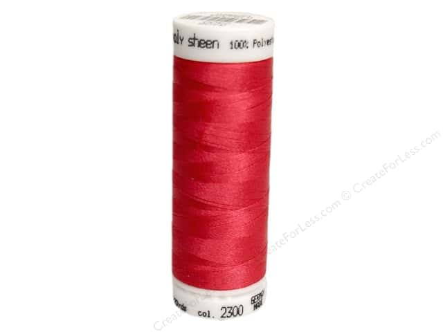 Mettler PolySheen Embroidery Thread 220 yd. #2300 Bright Ruby