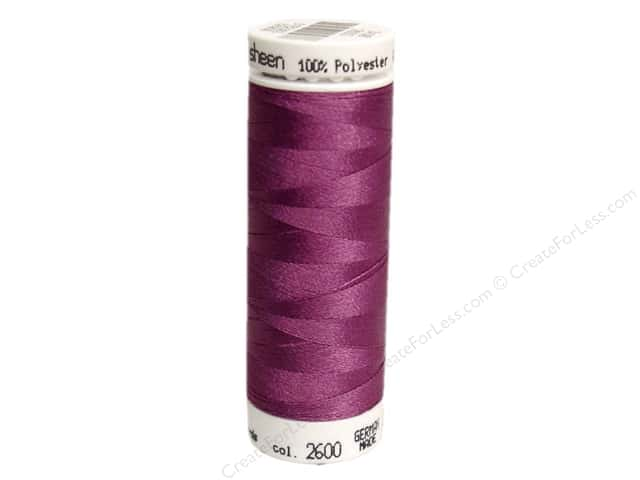 Mettler PolySheen Embroidery Thread 220 yd. #2600 Dusty Grape