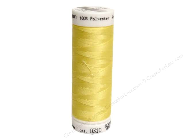 Mettler PolySheen Embroidery Thread 220 yd. #0310 Yellow