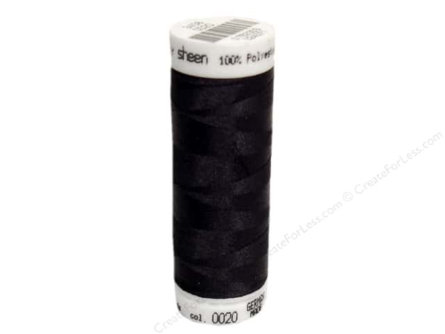 Mettler PolySheen Embroidery Thread 220 yd. #0020 Black