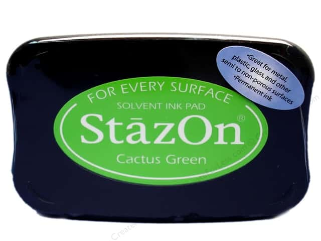 Tsukineko StazOn Large Solvent Ink Stamp Pad Cactus Green