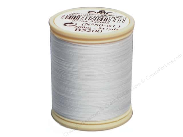 DMC Cotton Machine Embroidery Thread 50 wt. 547 yd. #B5200 Snow White