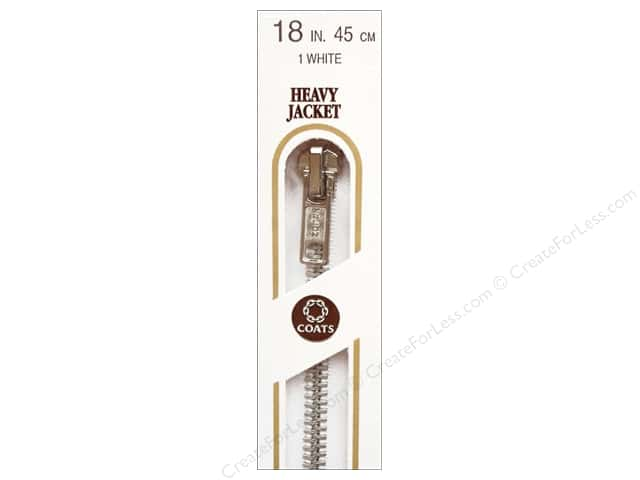 Coats Heavy Weight Aluminum Separating Zipper 18 in. White