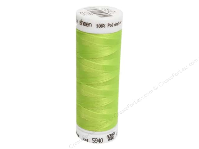 Mettler PolySheen Embroidery Thread 220 yd. #5940 Sour Apple